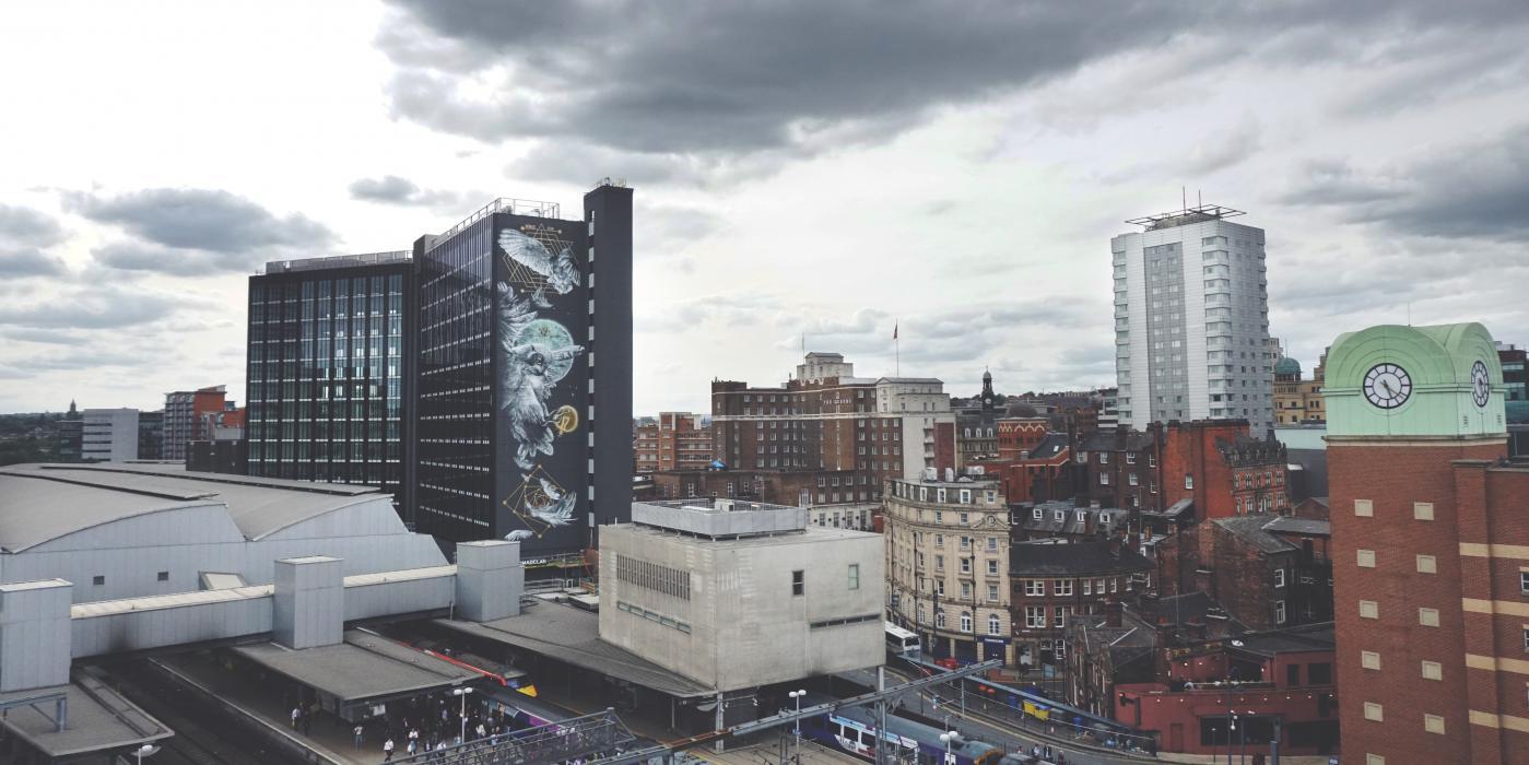 NOMAD Clan street art in Leeds called Athena Rising
